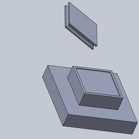 base grande2.png Download free STL file base large size (4 squares, or 10 feet) • 3D printing template, izanferrco