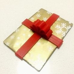Free STL files Larger Gift Card Ribbon & Bow, Quesabyte