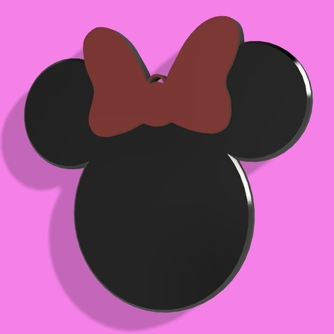 Christmas Minnie Mouse Head.Download Free Stl Minnie Mouse Head Christmas Tree Ornament