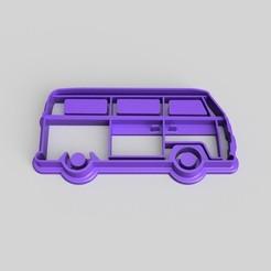 Imprimir en 3D gratis Cortador de galletas VW Campervan, Quesabyte