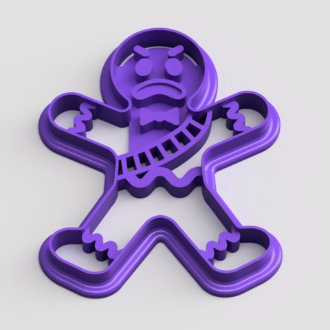 Download free 3D printing models Fortnite Gingerbread man Cookie Cutter, Quesabyte