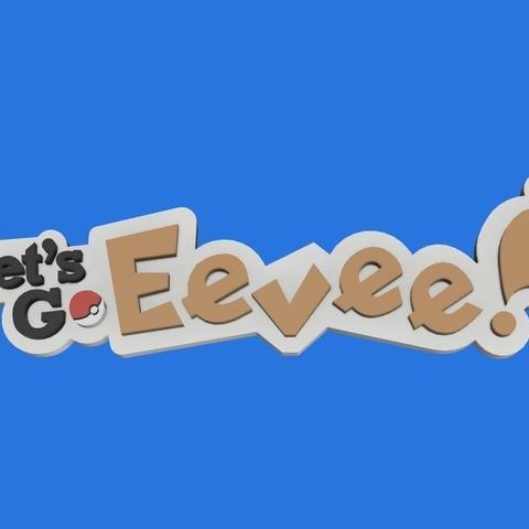 Download free STL files Pokemon Let's Go Eevee Keyring, Quesabyte