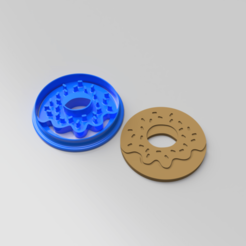 Download STL Doughnut Cookie Cutter, Quesabyte