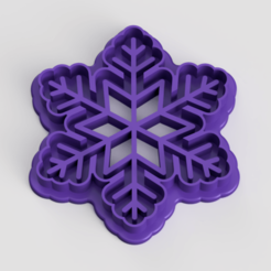 Download free 3D printer designs Snowflake Cookie Cutter, Quesabyte