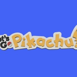 Download free 3D printing files Pokemon Let's Go Pikachu Keyring, Quesabyte