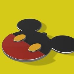 Impresiones 3D gratis Ornamento del árbol de Navidad de Mickey Mouse Head, Quesabyte
