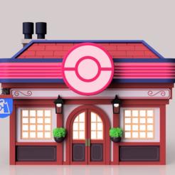 Download 3D printing models Pokemon Sword and Shield Pokemon Center, Quesabyte