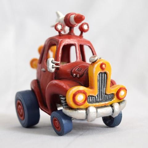 5.jpg Download STL file Rocket Car • 3D printer design, svandalk