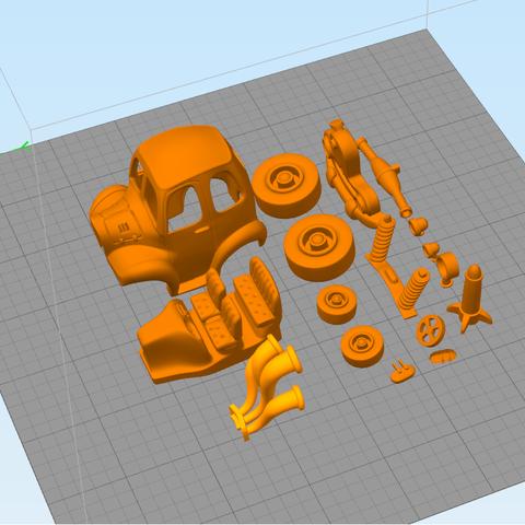 Car.png Download STL file Rocket Car • 3D printer design, svandalk