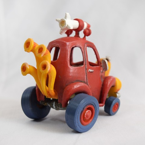 3.jpg Download STL file Rocket Car • 3D printer design, svandalk