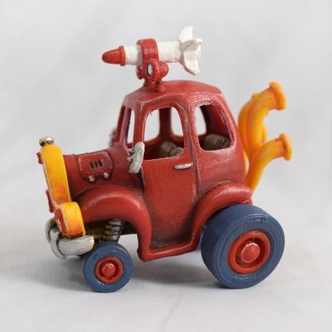 2.jpg Download STL file Rocket Car • 3D printer design, svandalk