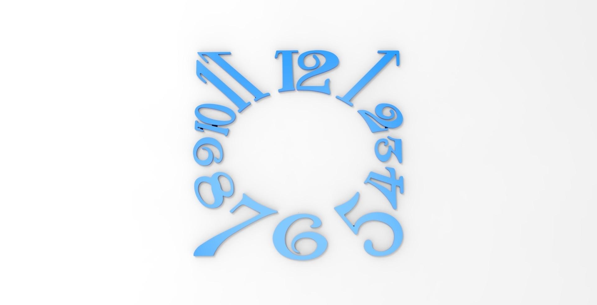 untitled.277.jpg Download STL file Clock Numbers • 3D printer object, svandalk