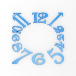 Download 3D printing templates Clock Numbers, svandalk
