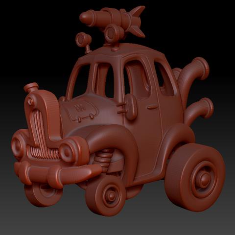 car2.png Download STL file Rocket Car • 3D printer design, svandalk