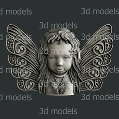 P367a.jpg Download STL file Butterfly angel • 3D printing template, 3dmodelsByVadim