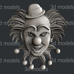 P362a.jpg Download STL file Clown • 3D print object, 3dmodelsByVadim