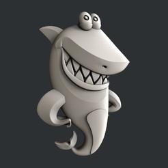 Impresiones 3D 3d modelos de tiburón, burcel