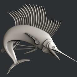 Descargar archivo 3D pez espada, burcel