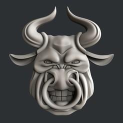 STL 3d models bull, burcel