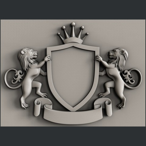3d models coat of arms