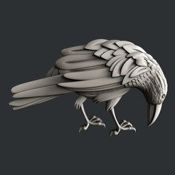 3D printer files Raven, burcel