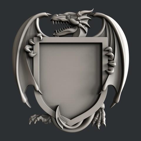 3D printer files Dragon shield, burcel