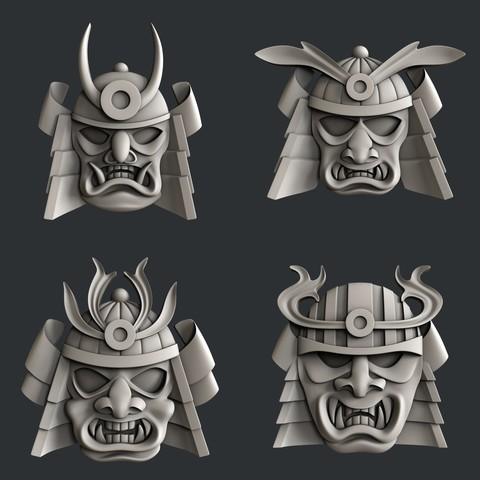 Descargar modelos 3D para imprimir Mascarilla de alivio Samuray, burcel