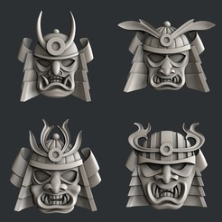 Download 3D printing designs Samuray mask relief, burcel