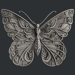 STL file Butterfly, burcel