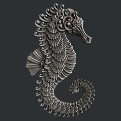 Impresiones 3D Caballo de Mar, burcel