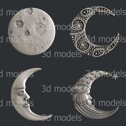 P338-alla.jpg Download STL file set moon • 3D print design, 3dmodelsByVadim