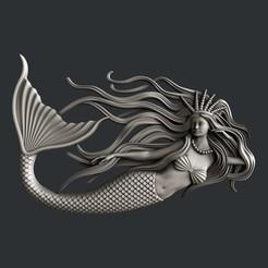 3D printer models Mermaid, burcel