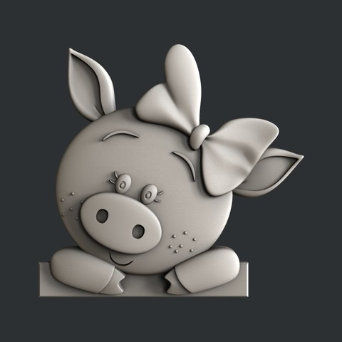 Download 3D printing models Pig, burcel