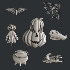 Descargar diseños 3D set Halloween, 3dmodelsByVadim