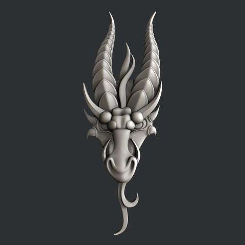 Download STL file Dragon , burcel