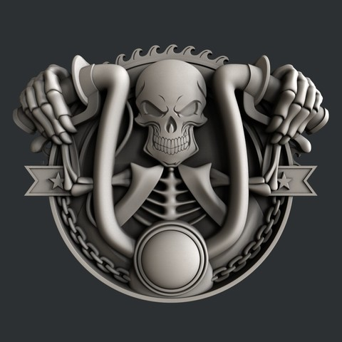P55.jpg Download STL file 3d models Skull motorcycle • 3D printable model, 3dmodelsByVadim