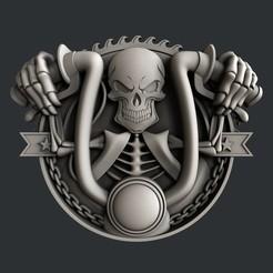 Download 3D printer templates 3d models Skull motorcycle, burcel