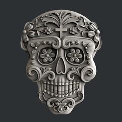 Descargar modelos 3D para imprimir cráneo de azúcar, 3dmodelsByVadim