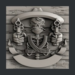 Download 3D print files Skull guns, burcel
