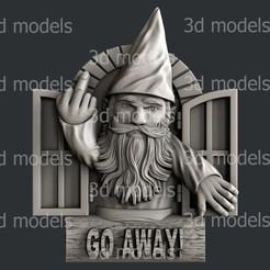 P339a.jpg Download STL file Gnome GO AWAY2 • 3D printing template, 3dmodelsByVadim