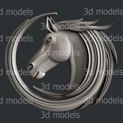 P329a.jpg Download STL file Horse • 3D printable template, 3dmodelsByVadim