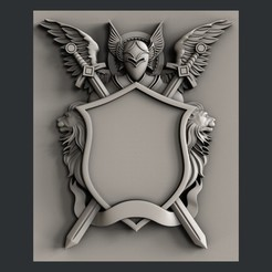 3D printer models Coat of Arms, burcel
