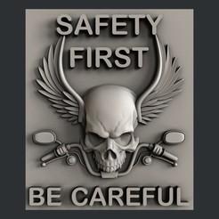 Download STL file 3d models Safety first, burcel