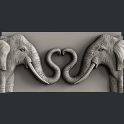 Download 3D printing designs Love elephant, burcel