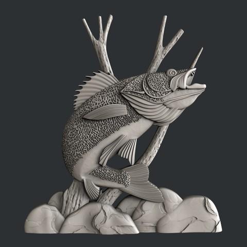 3D print files Fish panno, burcel