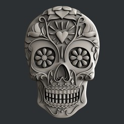 P294.jpg Download STL file Sugar skull • 3D printer model, 3dmodelsByVadim