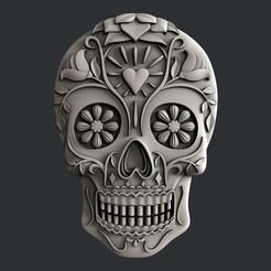 P294.jpg Télécharger fichier STL Crâne en sucre • Modèle imprimable en 3D, 3dmodelsByVadim