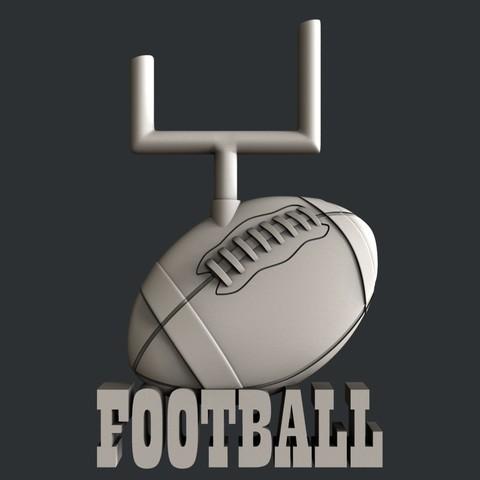 P105g.jpg Download STL file Set American Football • 3D printable model, 3dmodelsByVadim