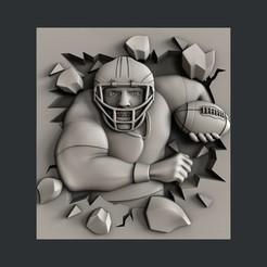 3D printing model American Football, burcel