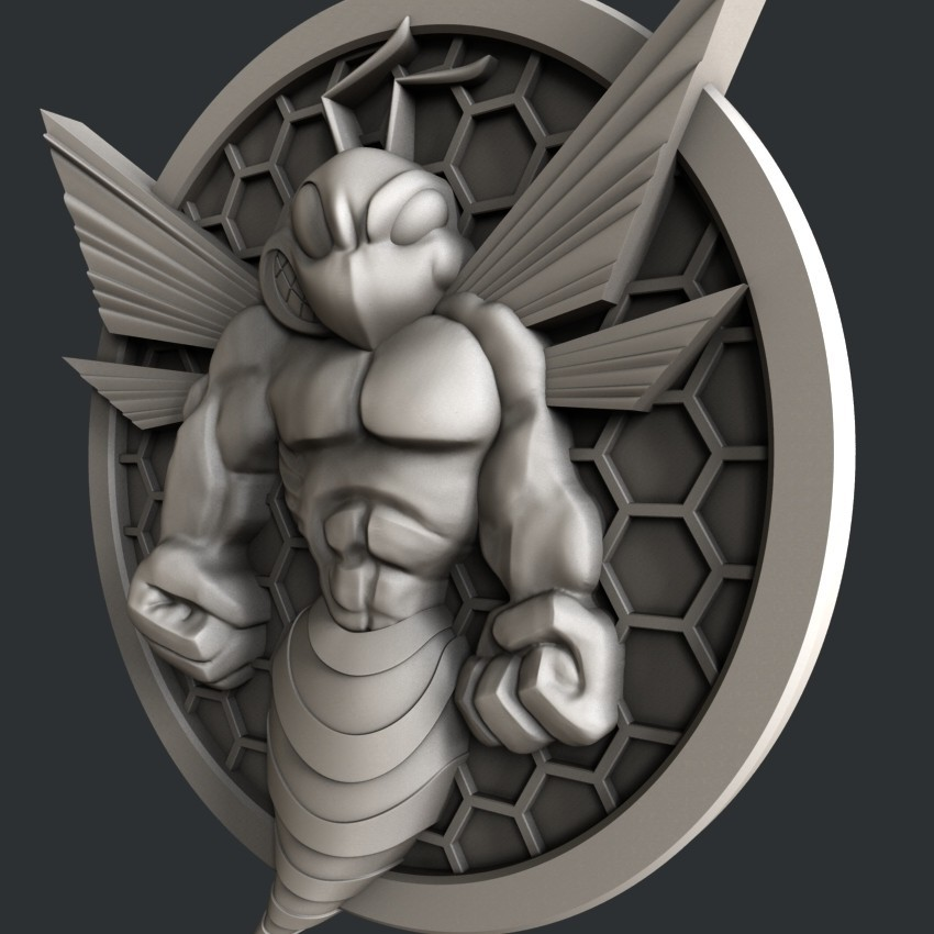 P23-1jpg.jpg Download STL file 3d models Bee • 3D printing design, 3dmodelsByVadim